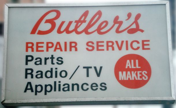 Butler's store sign